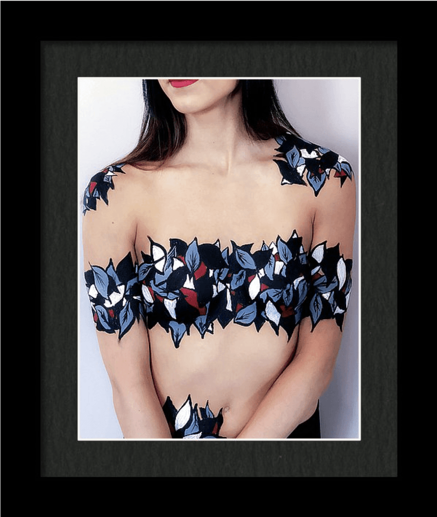 Beautiful Body Art Print by Artist Dan Pearce (Abstract Leaves) - Dan Pearce Creative Shop
