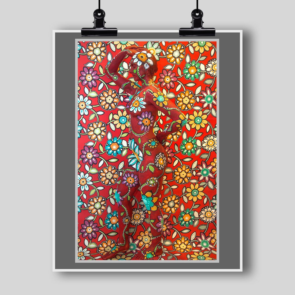 Beautiful Body Art Print by Artist Dan Pearce (Floral Full Camouflage) - Dan Pearce Creative Shop