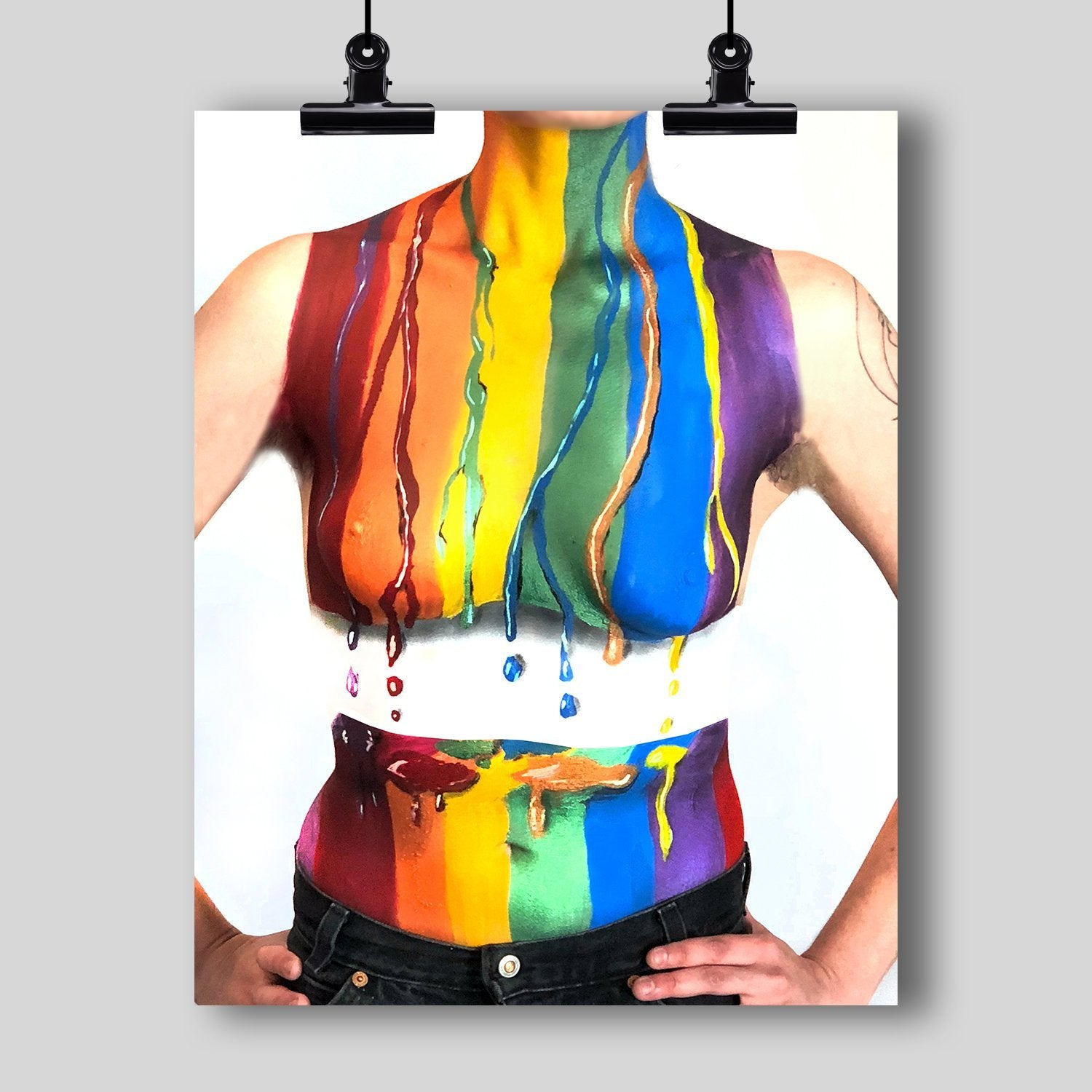 Beautiful Body Art Print  (LGBT Pride Abstract)