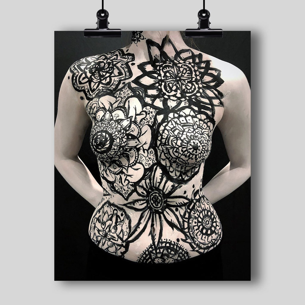 Beautiful Body Art Print by Artist Dan Pearce (Mandalas, Mandalas, Mandalas!) - Dan Pearce Creative Shop