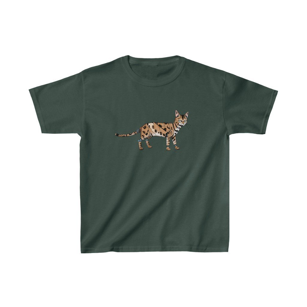 """Bengal Cat Robot"" Kids Heavy Cotton™ T-Shirt (Youth) - Dan Pearce Creative Shop"