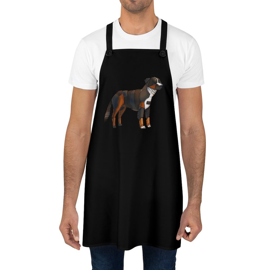 """Bernese Mountain Dog Robot"" Cooking Apron Featuring Art by Dan Pearce - Dan Pearce Creative Shop"