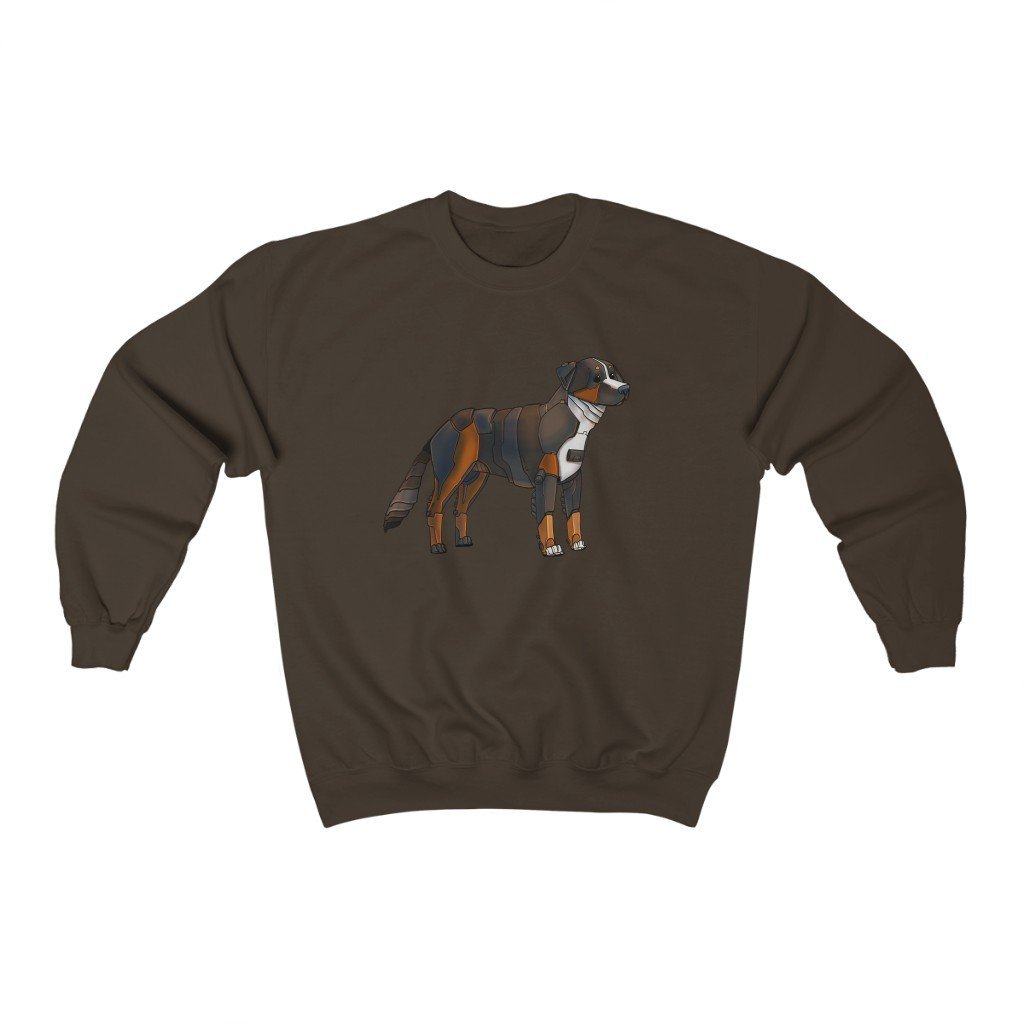 """Bernese Mountain Dog Robot"" Crewneck Premium Sweatshirt - Dan Pearce Creative Shop"