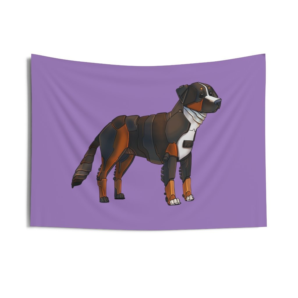 """Bernese Mountain Dog Robot"" Indoor Wall Tapestry - Dan Pearce Creative Shop"