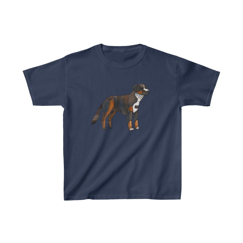 """Bernese Mountain Dog Robot"" Kids Heavy Cotton™ T-Shirt (Youth) - Dan Pearce Creative Shop"