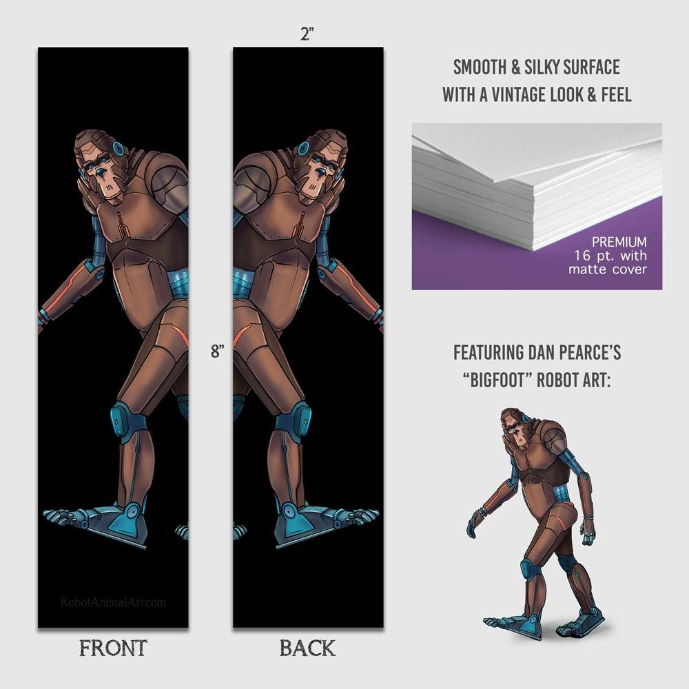"""Bigfoot Robot"" Premium Bookmark Featuring Art by Dan Pearce - Dan Pearce Creative Shop"