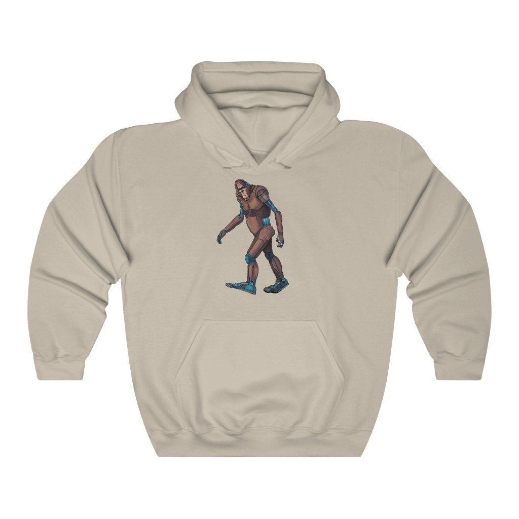 """Bigfoot Sasquatch Robot"" Hooded Sweatshirt by Dan Pearce (Hoodie) - Dan Pearce Creative Shop"