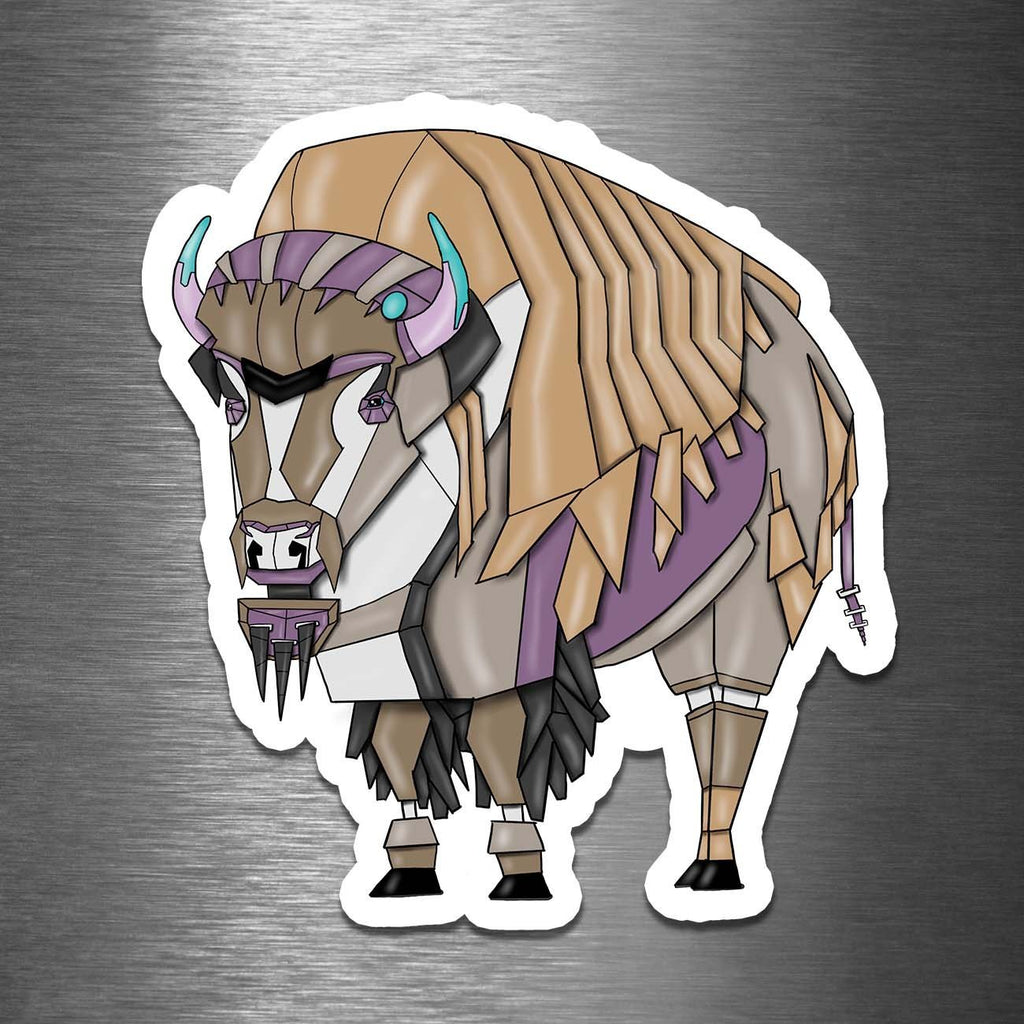 """Bison/Buffalo Robot"" - 3.5"" Premium Vinyl Sticker - Dan Pearce Creative Shop"