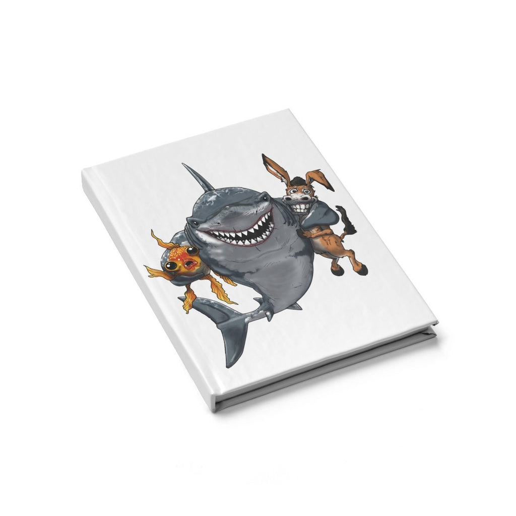 "Blank Journal - ""A Shark's Best Friends"" Poker Art - Dan Pearce Creative Shop"