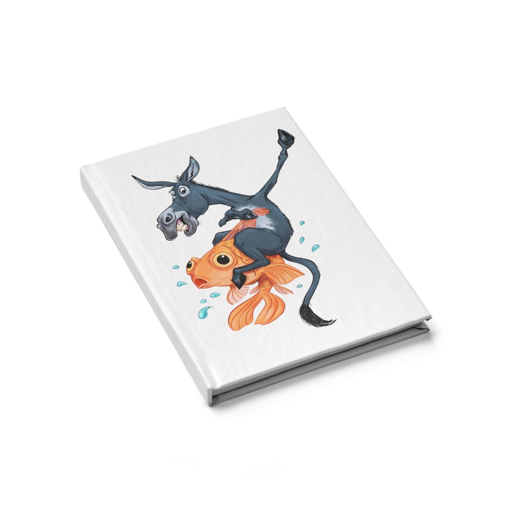 "Blank Journal - ""The Donkey Riding a Fish"" Poker Art - Dan Pearce Creative Shop"