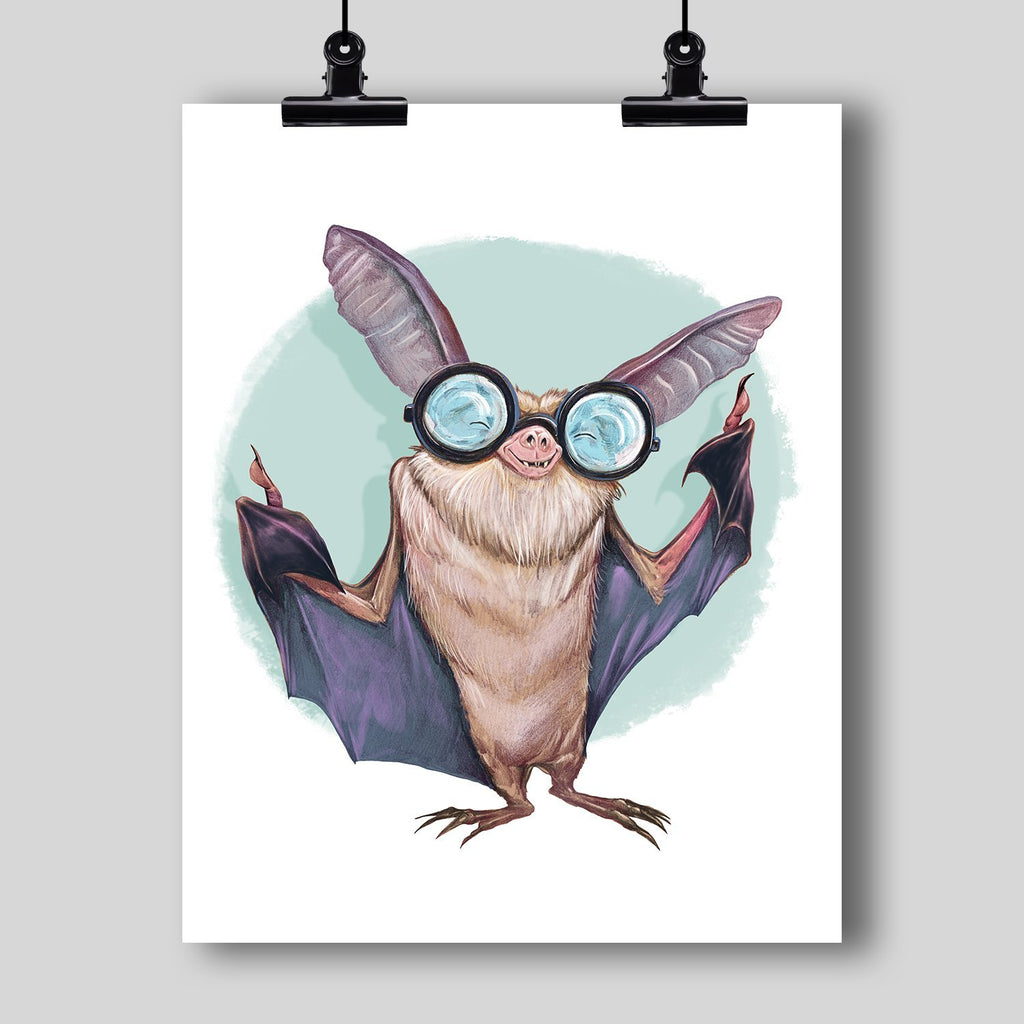 """Blind as a Bat"" Art Print by Dan Pearce - Dan Pearce Creative Shop"