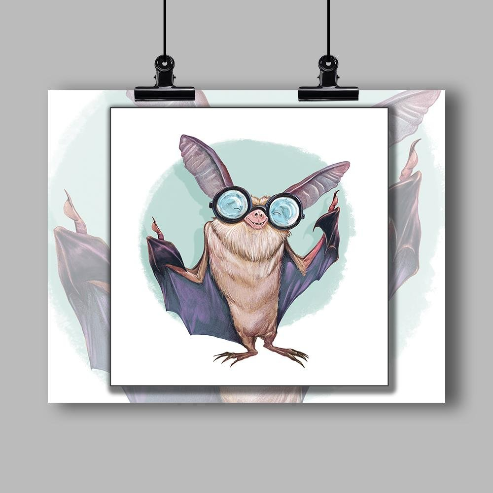 """Blind as a Bat"" Specialty Art Print by Dan Pearce - Dan Pearce Creative Shop"