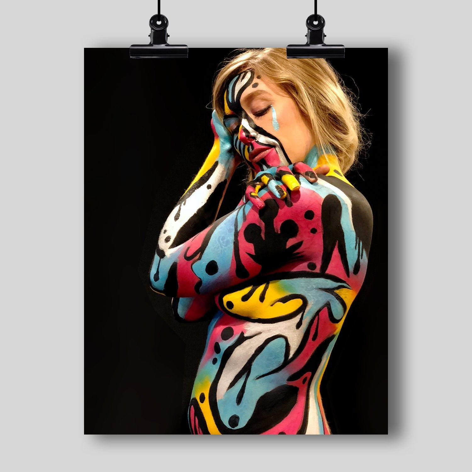 Body Art Print by Artist Dan Pearce (Abstract #9) - Dan Pearce Creative Shop