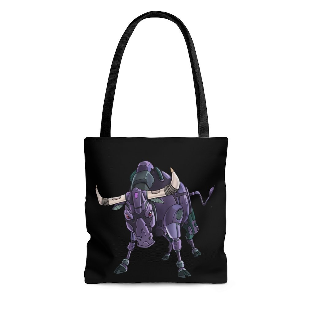 """Bull Robot"" Tote Bag - Dan Pearce Creative Shop"