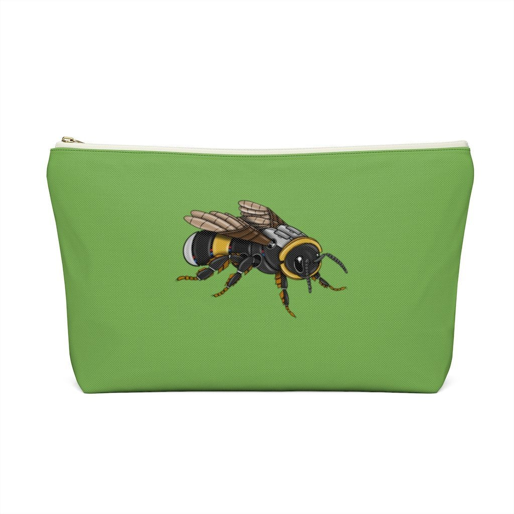 """Bumblebee Robot"" Cosmetic Bag & Accessory Pouch Featuring Art by Dan Pearce - Dan Pearce Creative Shop"