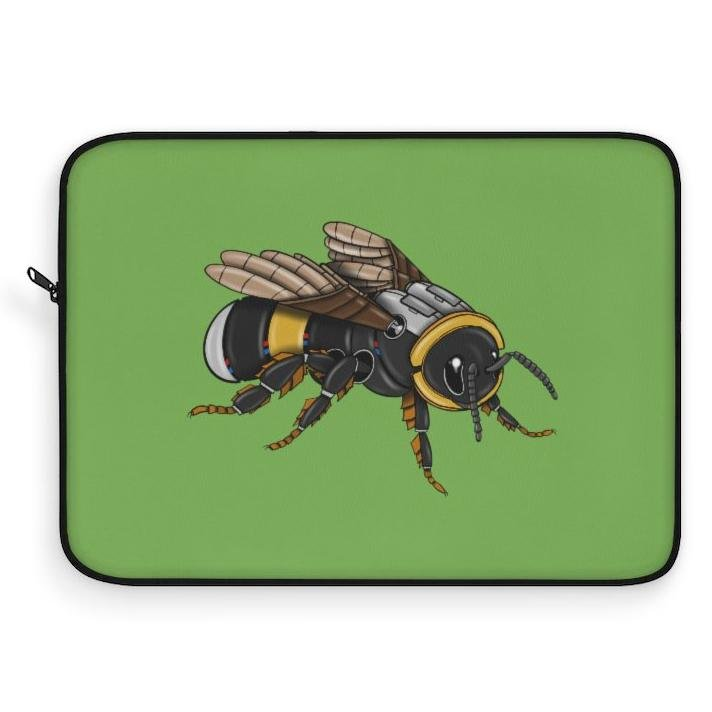 """Bumblebee Robot"" Laptop Sleeve Featuring Artwork by Dan Pearce - Dan Pearce Creative Shop"