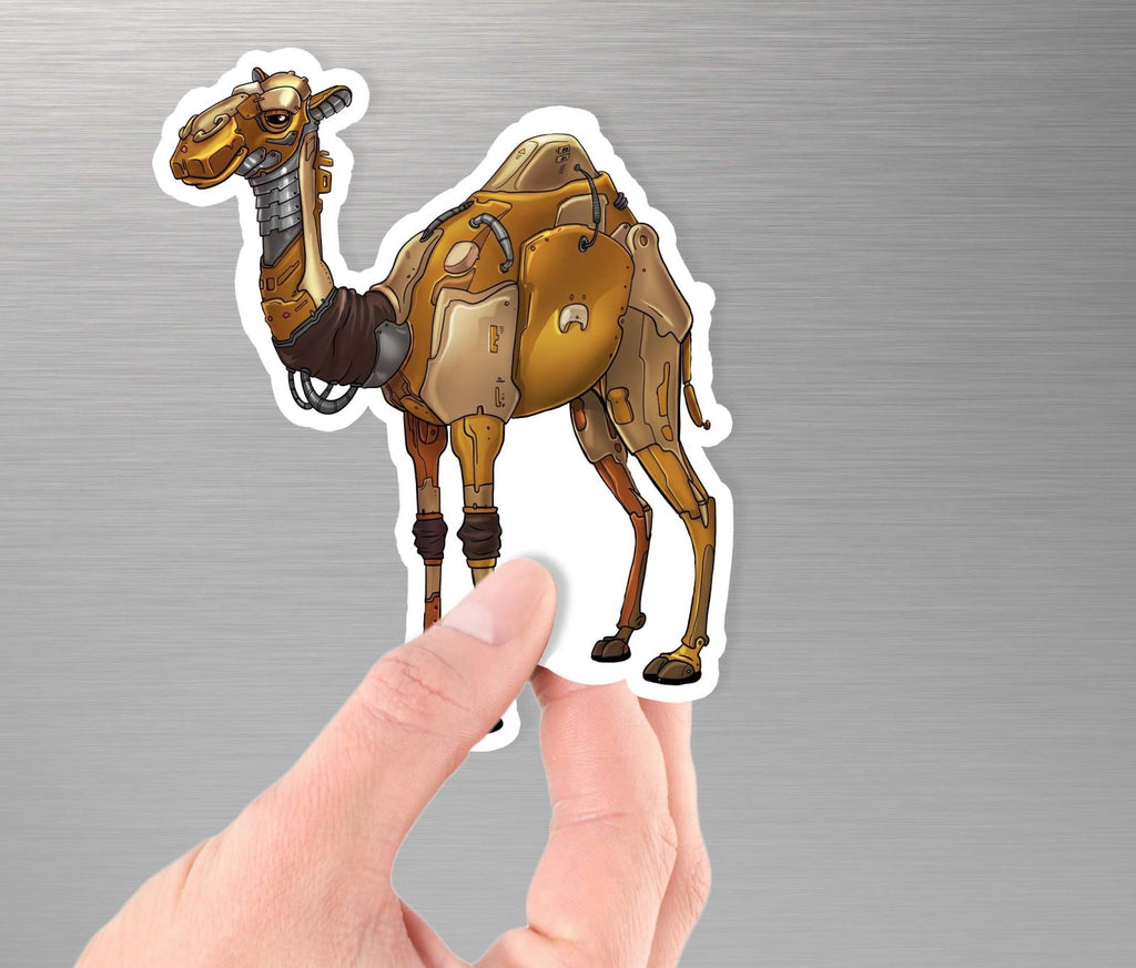 """Camel Robot"" - 3.5"" Premium Vinyl Sticker - Dan Pearce Creative Shop"