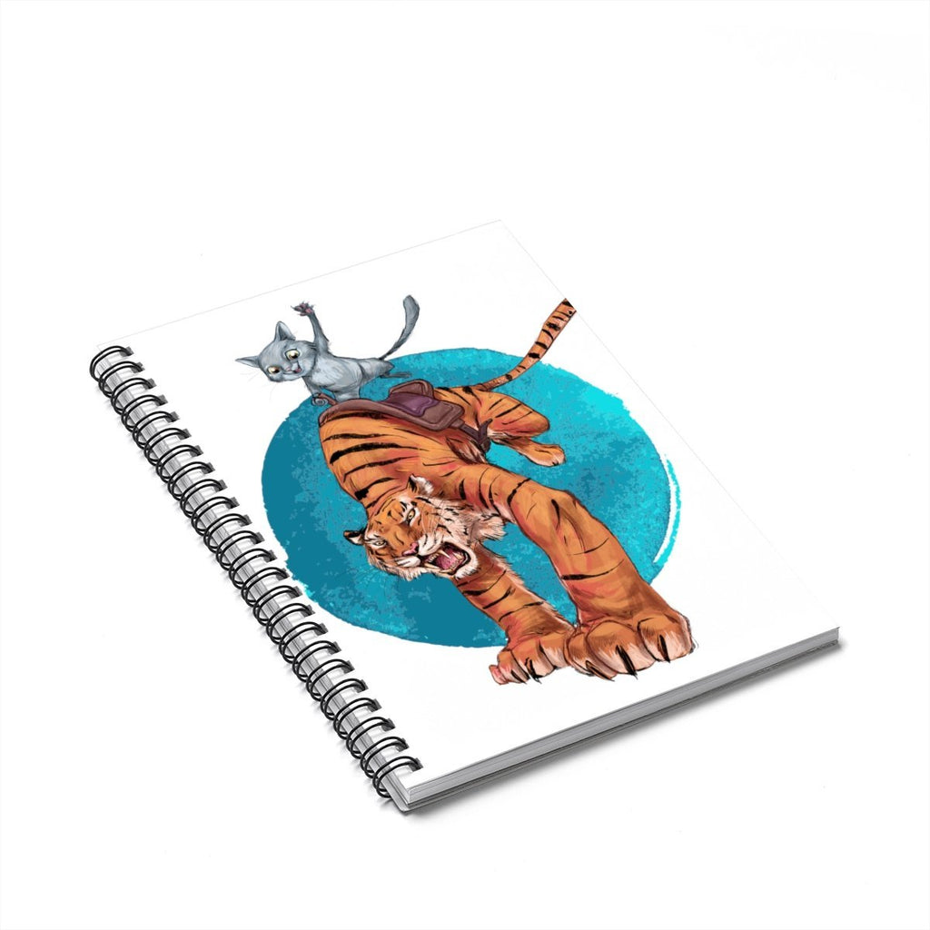"""Cat Riding the Tiger"" (#1) Designer Notebook - Dan Pearce Creative Shop"
