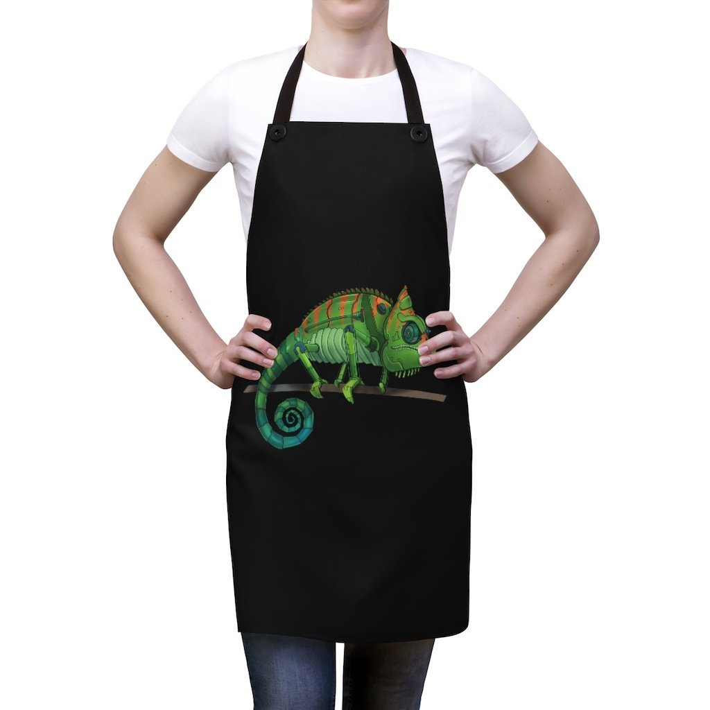 """Chameleon Robot"" Cooking Apron Featuring Art by Dan Pearce - Dan Pearce Creative Shop"