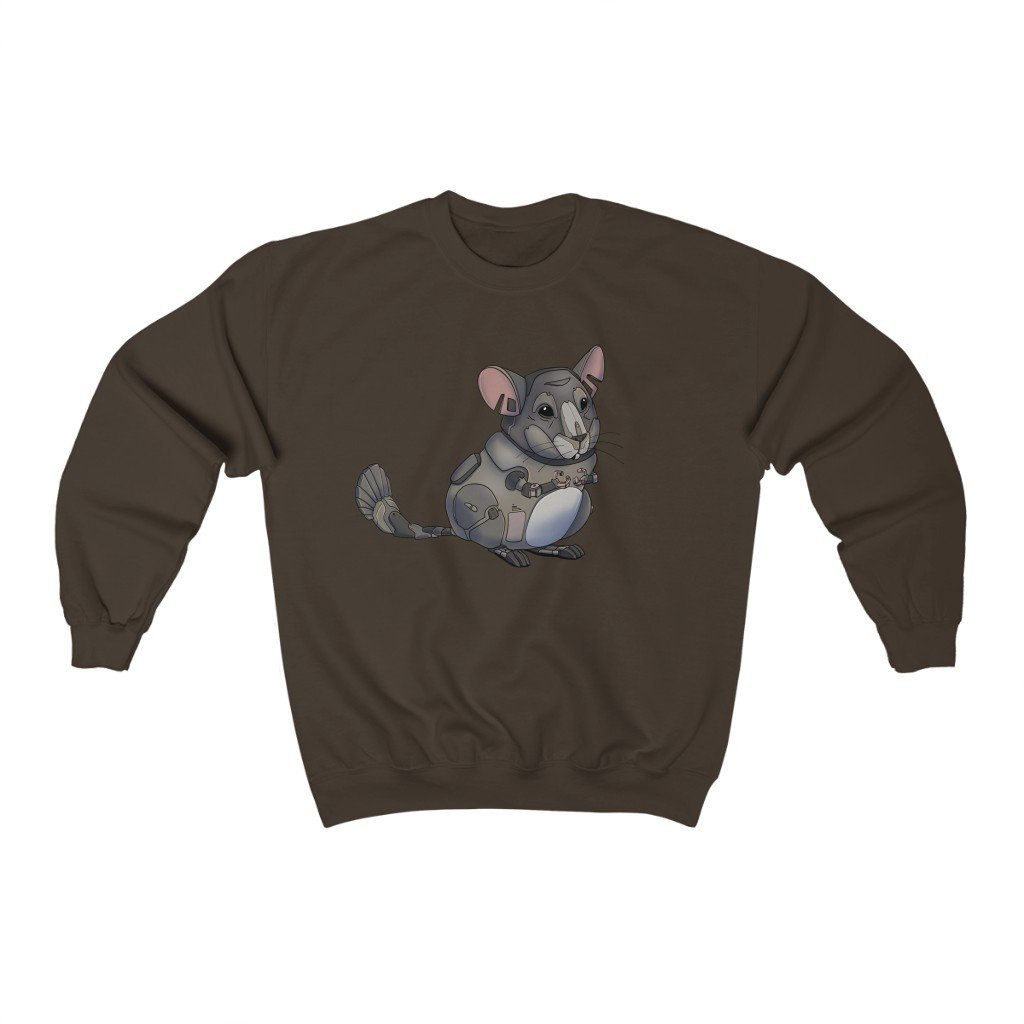 """Chinchilla Robot"" Crewneck Premium Sweatshirt - Dan Pearce Creative Shop"
