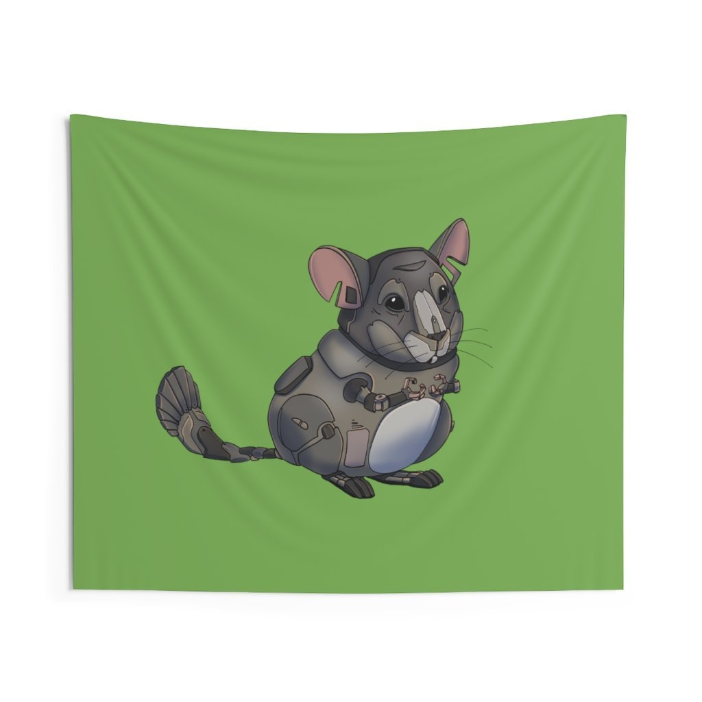 """Chinchilla Robot"" Indoor Wall Tapestry - Dan Pearce Creative Shop"