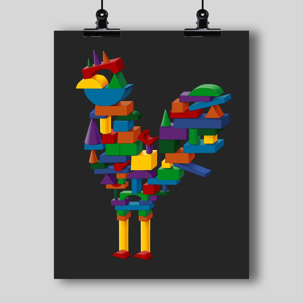 """Cock Block"" Art Print - Dan Pearce Creative Shop"