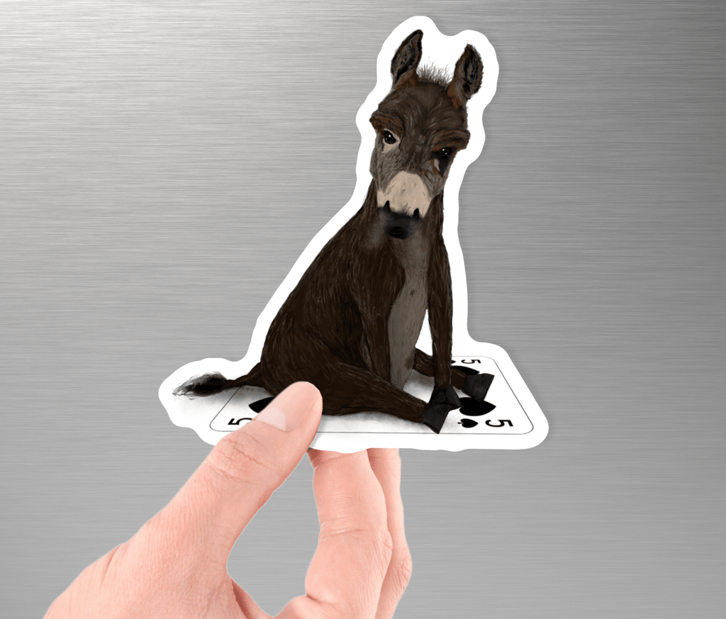 Collectible Poker Sticker #8 - Badass Donkey - Dan Pearce Creative Shop