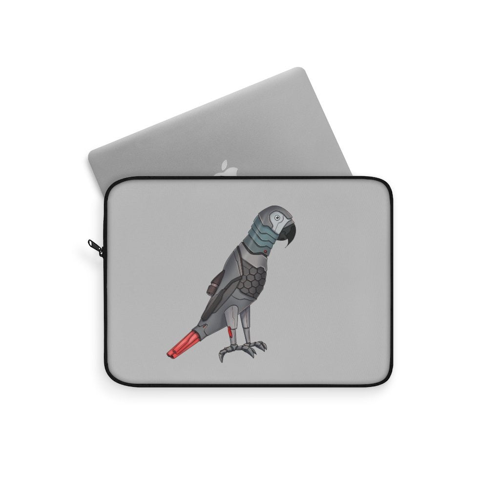 """Congo African Grey Parrot Robot"" Laptop Sleeve Featuring Artwork by Dan Pearce - Dan Pearce Creative Shop"