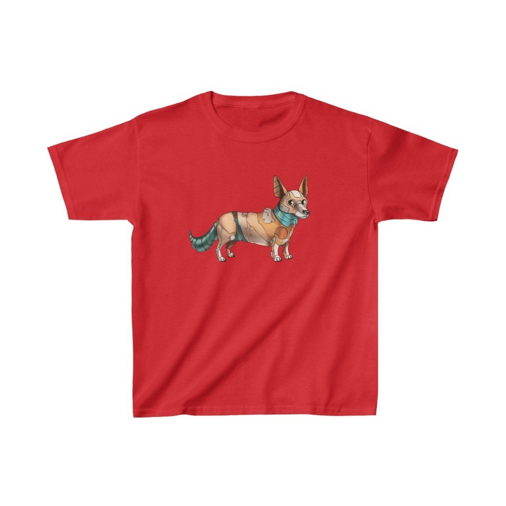 """Corgi Robot"" Kids Heavy Cotton™ T-Shirt (Youth) - Dan Pearce Creative Shop"