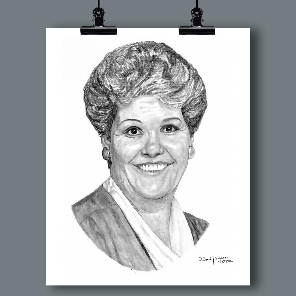 Custom Hand-Drawn/Painted Portrait of Your Loved One (by Dan Pearce) - Dan Pearce Creative Shop
