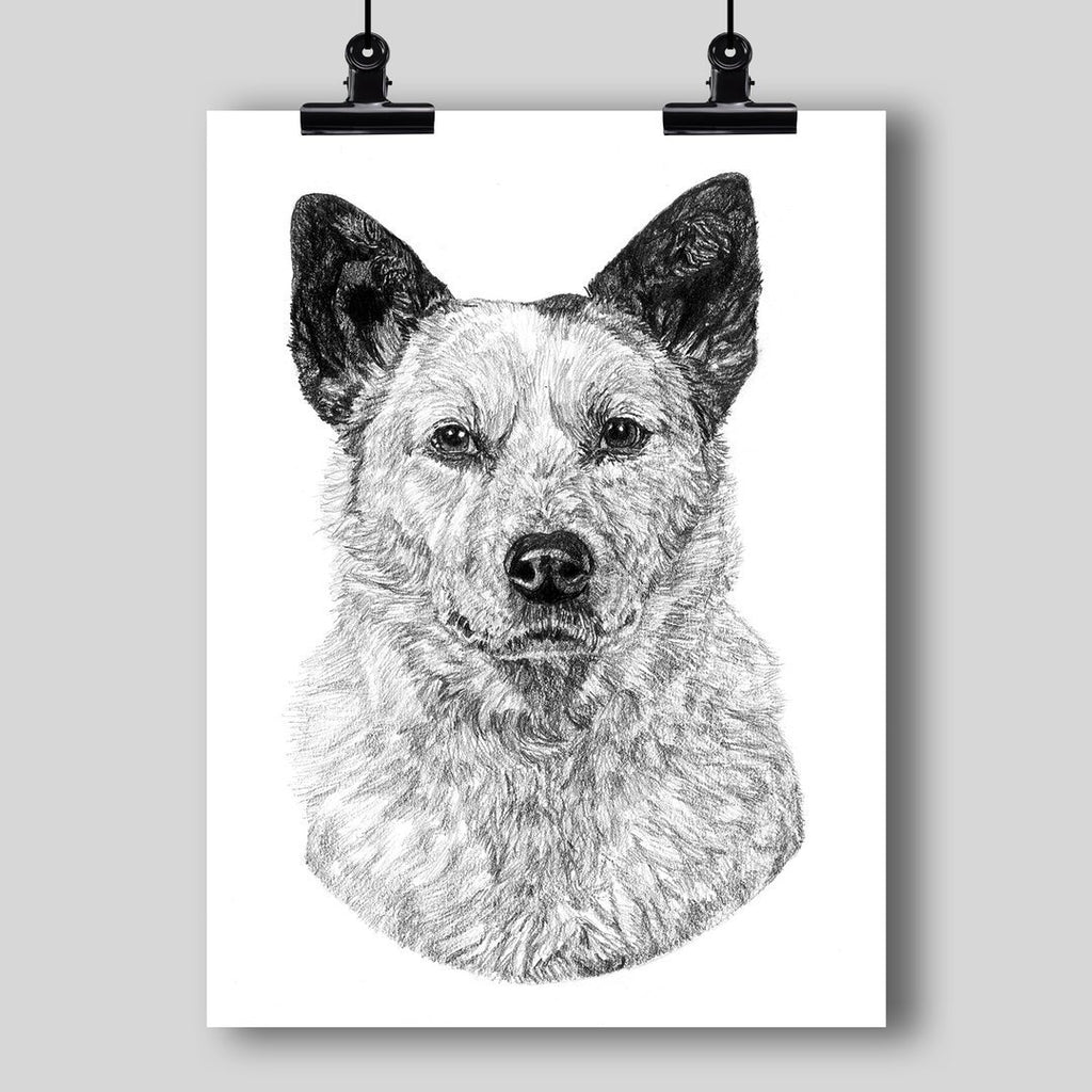 Custom Hand-Drawn/Painted Portrait of Your Pet (by Dan Pearce) - Dan Pearce Creative Shop