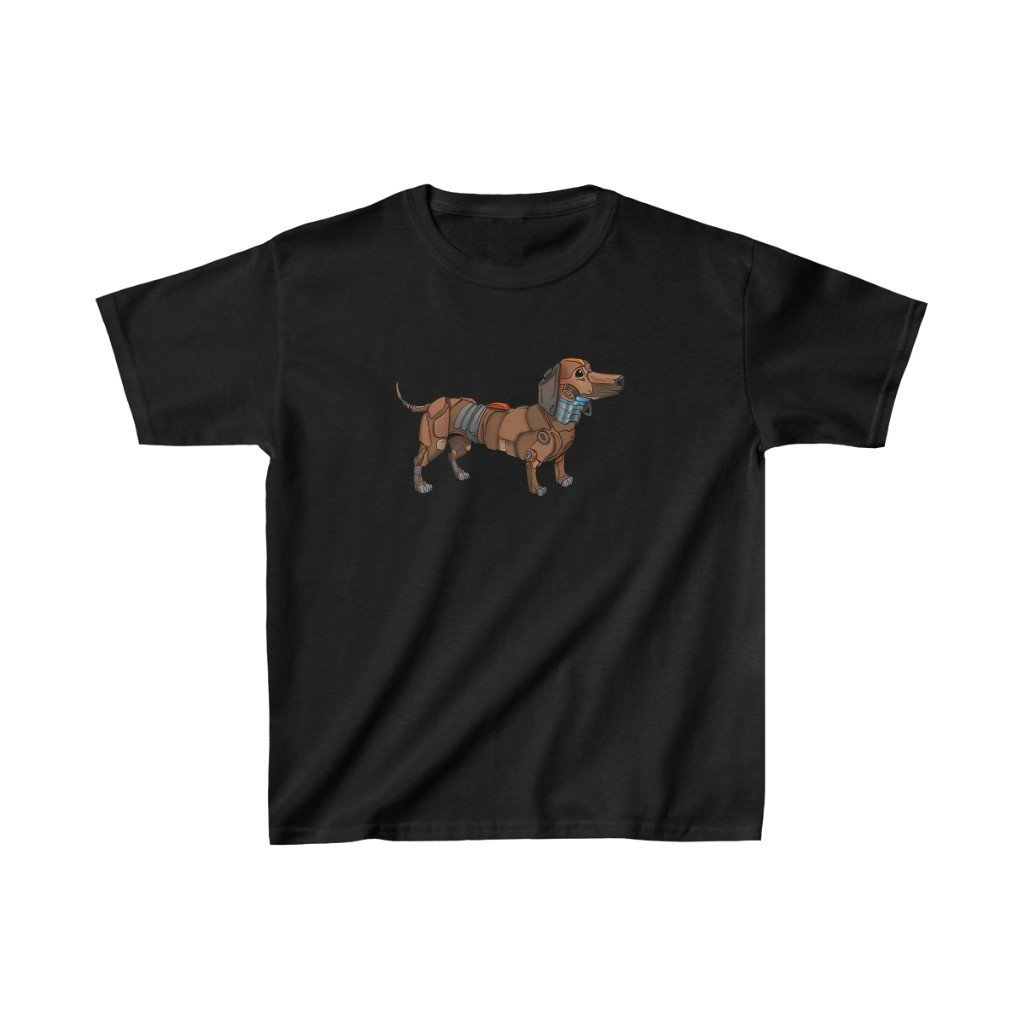 """Dachshund Robot"" Kids Heavy Cotton™ T-Shirt (Youth) - Dan Pearce Creative Shop"