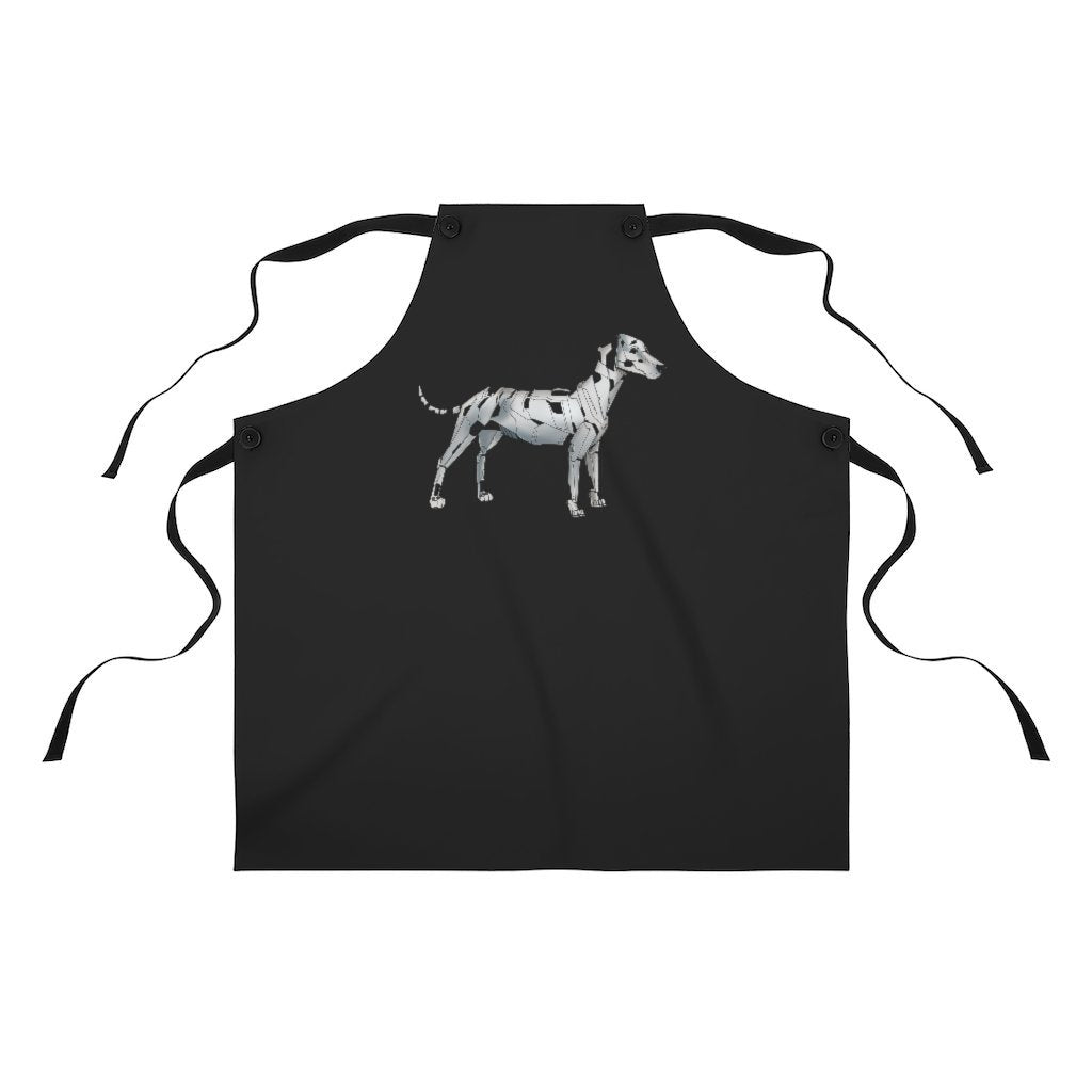 """Dalmatian Robot"" Cooking Apron Featuring Art by Dan Pearce - Dan Pearce Creative Shop"