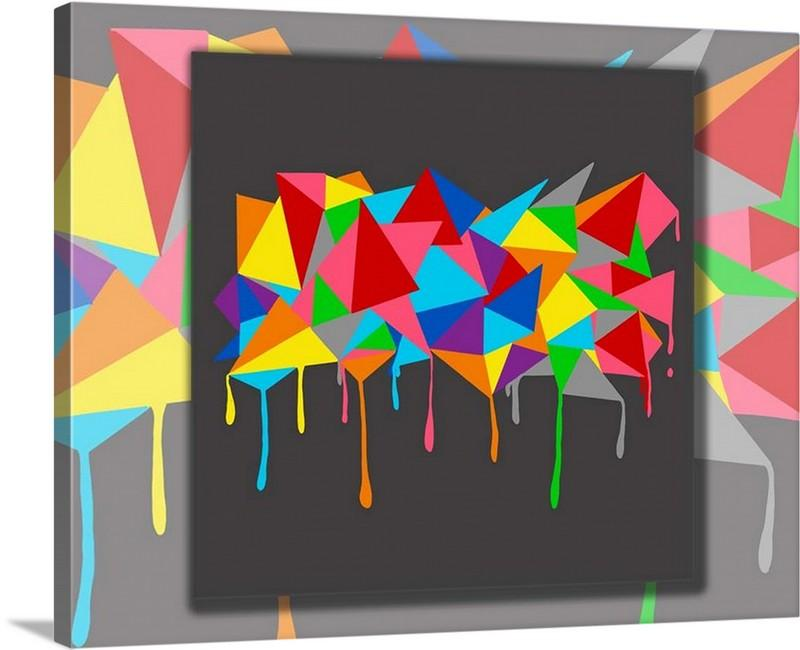 Dan Pearce's Abstract Triangles Gallery Wrap Art Canvas - Dan Pearce Creative Shop