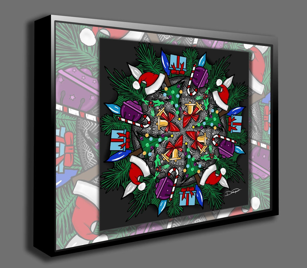 Dan Pearce's Christmas Mandala Gallery Wrap Art Canvas - Dan Pearce Creative Shop