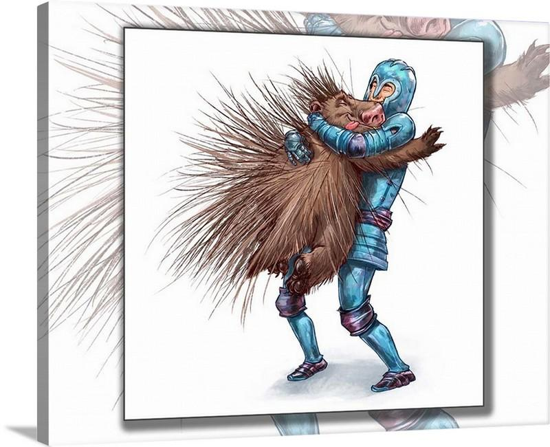 "Dan Pearce's ""How to Hug a Porcupine"" Gallery Wrap Art Canvas - Dan Pearce Creative Shop"