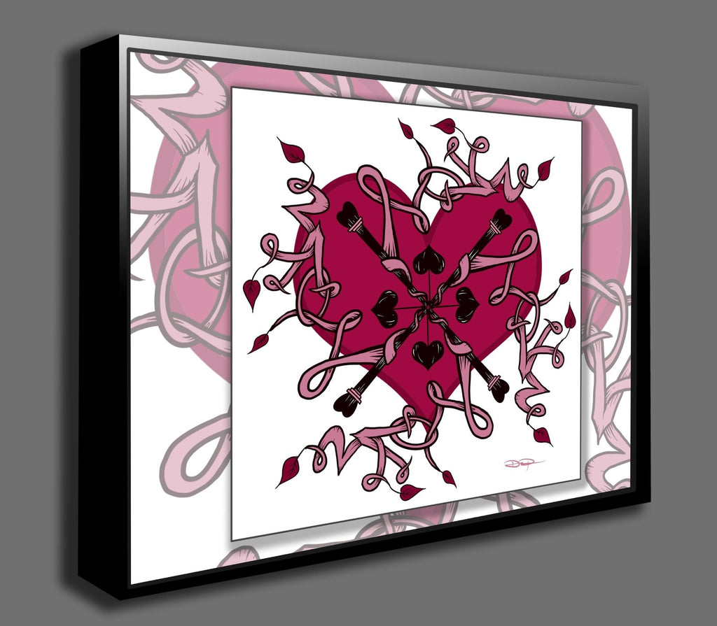 Dan Pearce's Love Mandala Gallery Wrap Art Canvas - Dan Pearce Creative Shop
