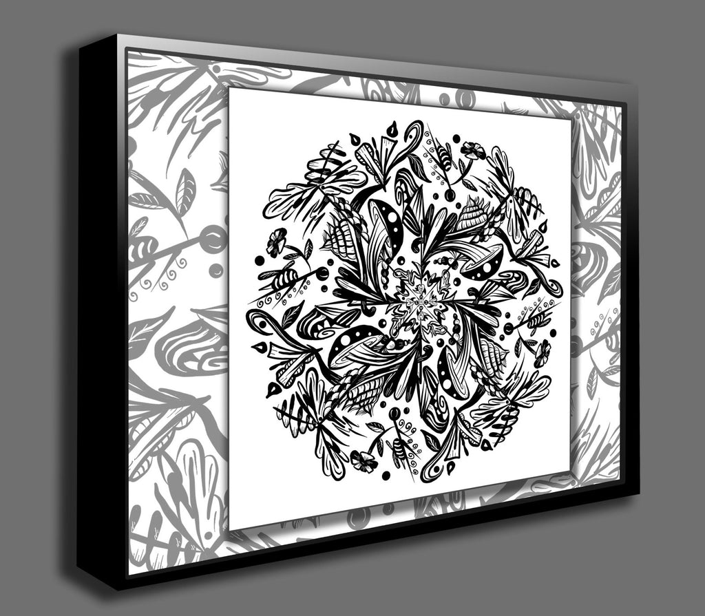Dan Pearce's Mandala #1 Gallery Wrap Art Canvas - Dan Pearce Creative Shop