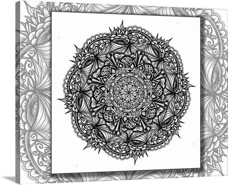 Dan Pearce's Mandala #12 Gallery Wrap Art Canvas - Dan Pearce Creative Shop