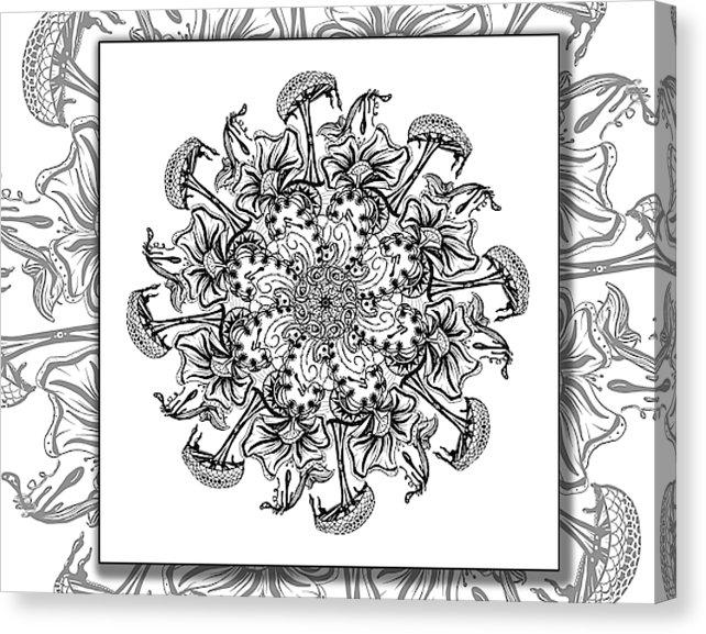 Dan Pearce's Mandala #13 Gallery Wrap Art Canvas - Dan Pearce Creative Shop
