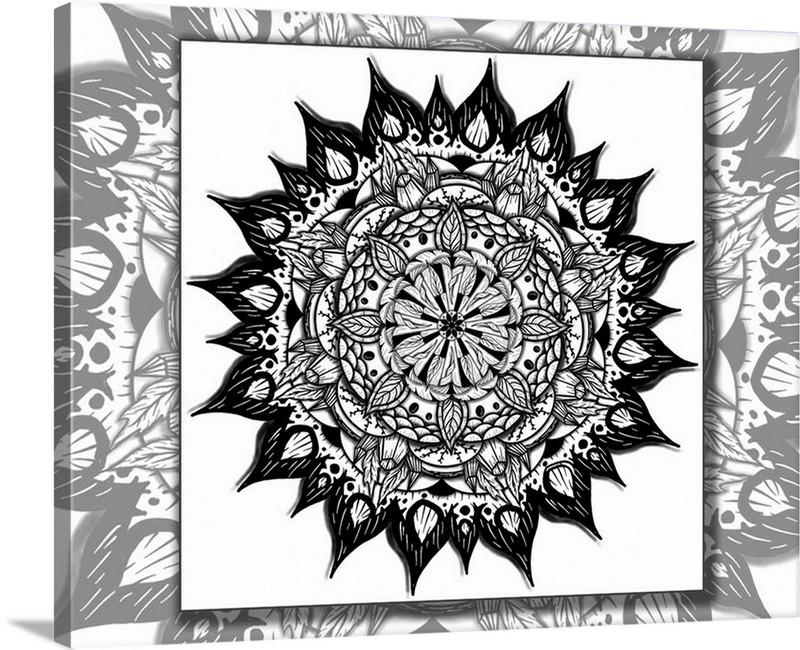 Dan Pearce's Mandala #14 Gallery Wrap Art Canvas - Dan Pearce Creative Shop