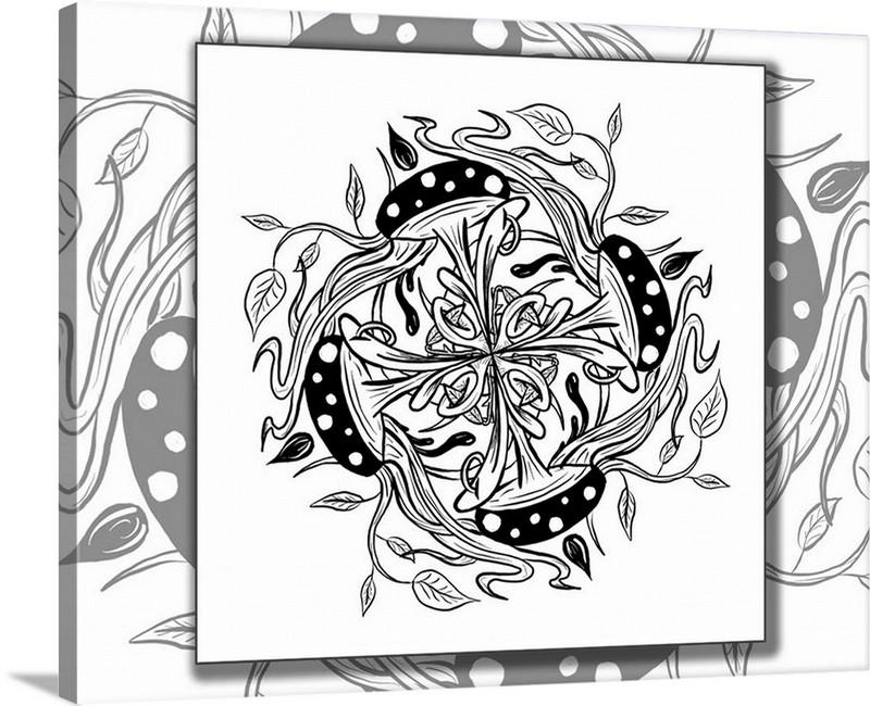 Dan Pearce's Mandala #5 Gallery Wrap Art Canvas - Dan Pearce Creative Shop