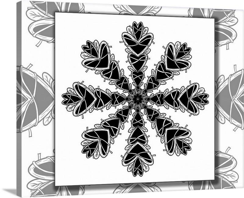 Dan Pearce's Mandala #6 Gallery Wrap Art Canvas - Dan Pearce Creative Shop