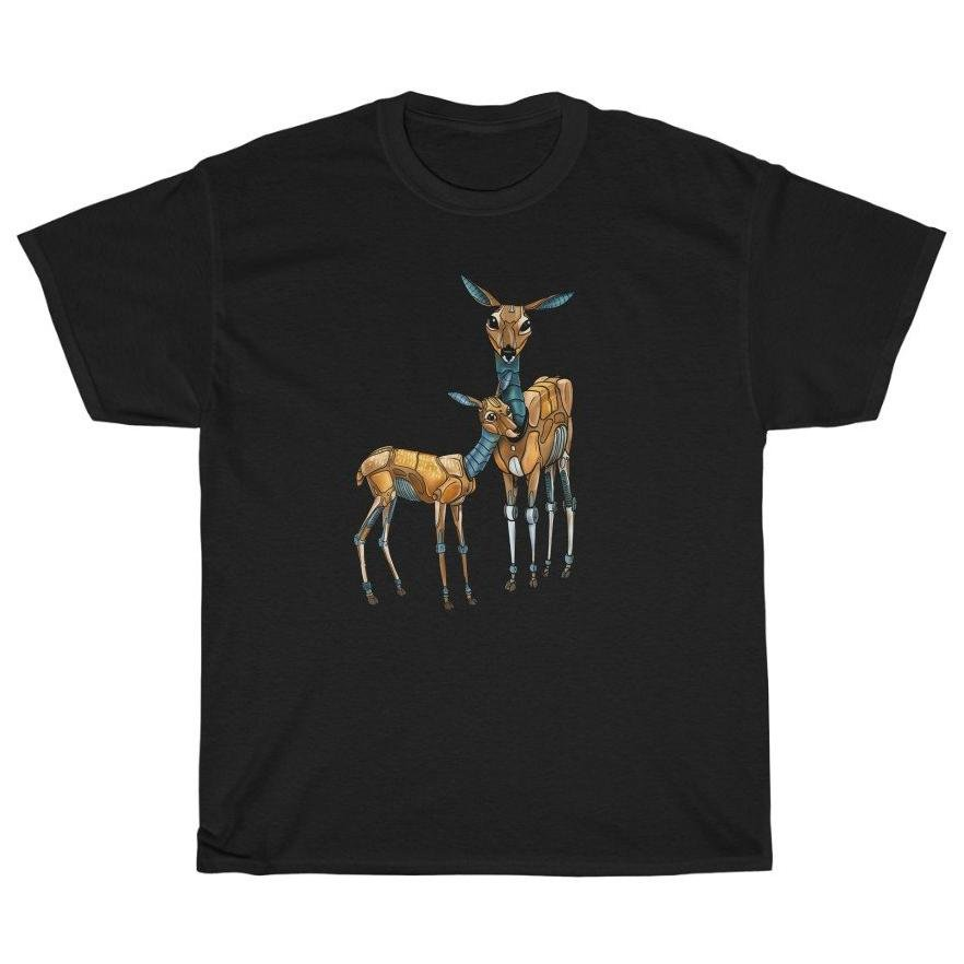 """Deer & Fawn Robot"" Premium T-Shirt - Dan Pearce Creative Shop"