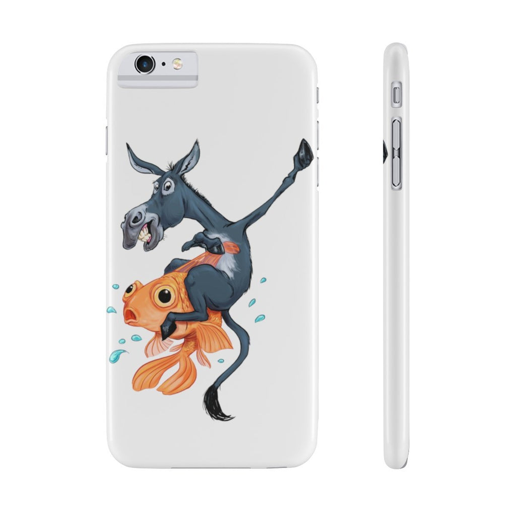 Donkey Riding a Fish (Poker Inside Joke) Phone Case - Dan Pearce Creative Shop