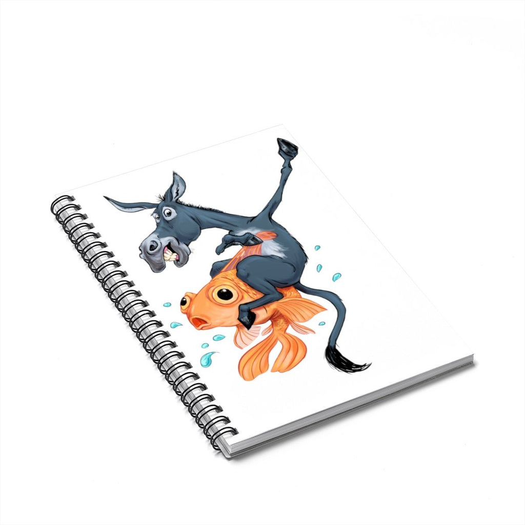 """Donkey Riding the Fish"" Designer Notebook for Poker Players - Dan Pearce Creative Shop"