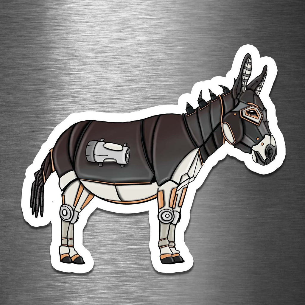 """Donkey Robot"" - 3.5"" Premium Vinyl Sticker - Dan Pearce Creative Shop"