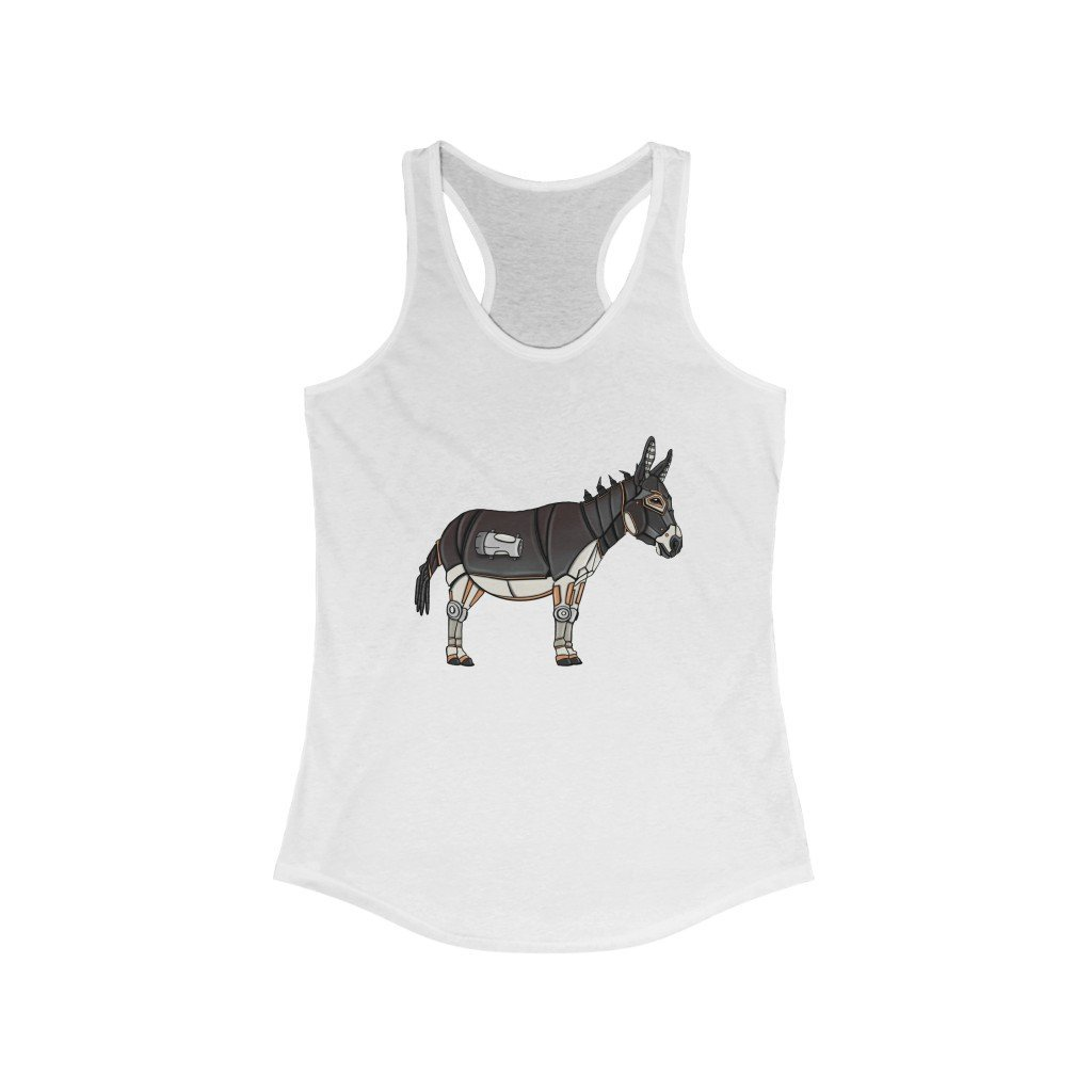 """Donkey Robot"" Women's Ideal Racerback Tank - Dan Pearce Creative Shop"