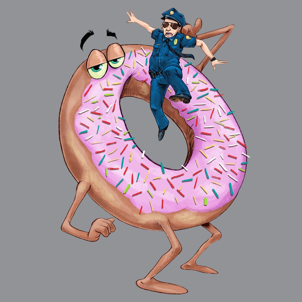 """Donut Eating a Cop"" Premium T-Shirt - Dan Pearce Creative Shop"