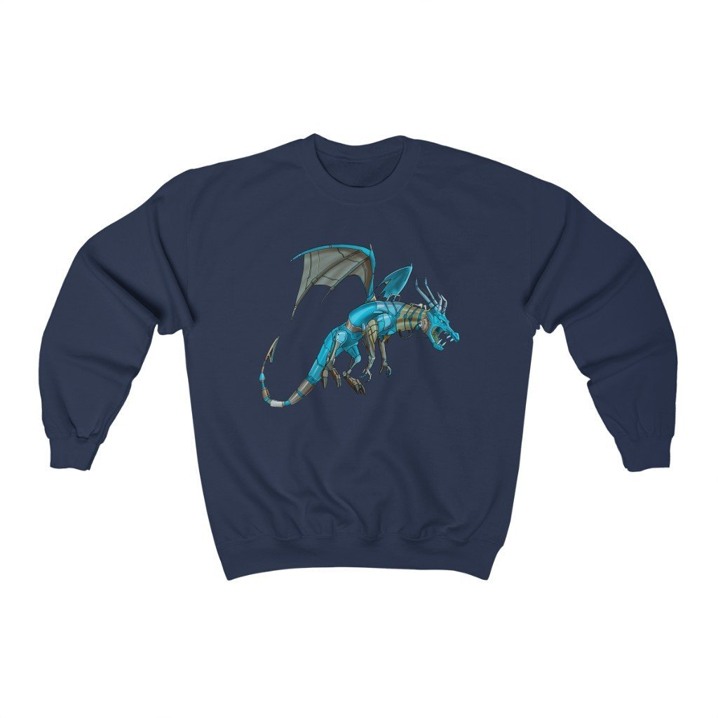 """Dragon Robot"" Crewneck Premium Sweatshirt - Dan Pearce Creative Shop"